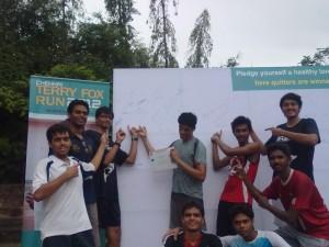 Team at the Terry Fox Run