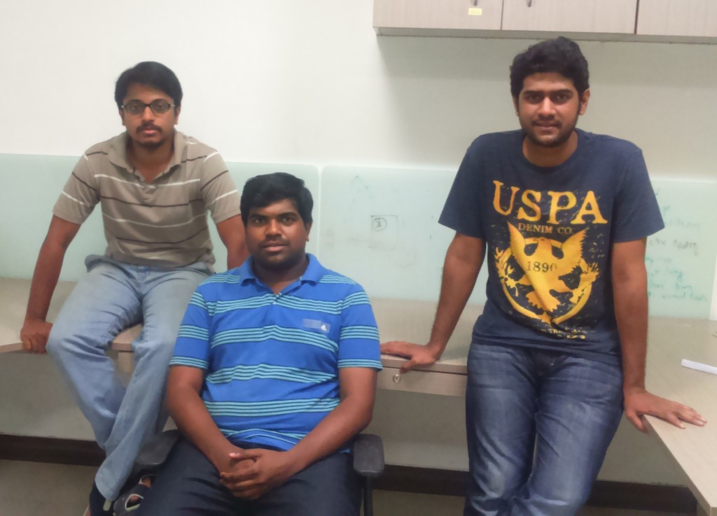 L-R: Siddharth, Krishna and Akhilesh