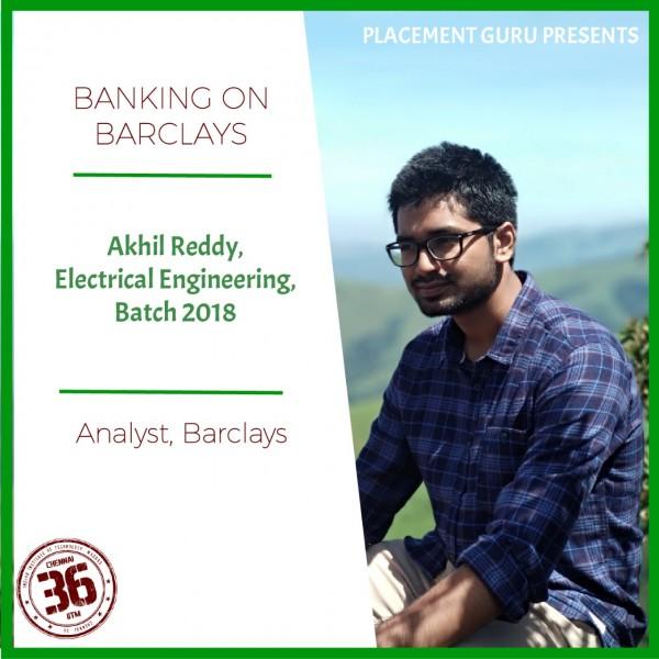Akhil Reddy, Barclays